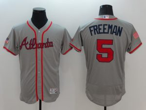 2016 MLB FLEXBASE Atlanta Braves 5 Freeman Grey Fashion Jerseys