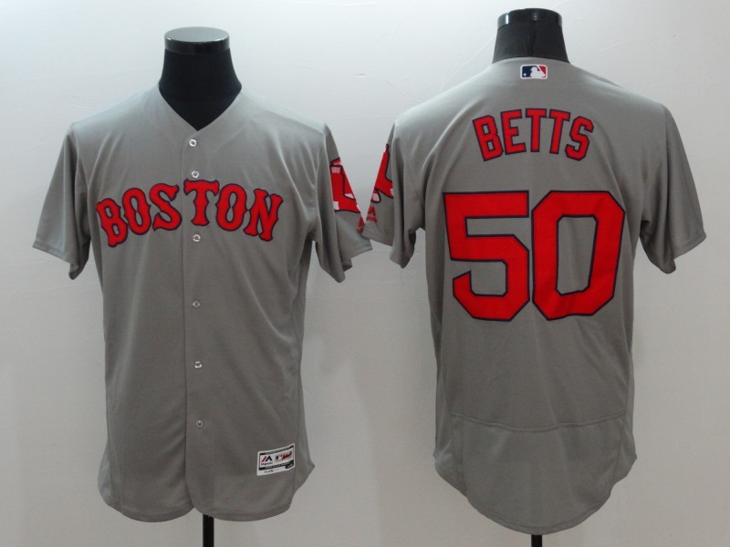 2016 MLB FLEXBASE Boston Red Sox 50 Betts Grey Fashion Jerseys