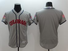2016 MLB FLEXBASE Colorado Rockies Blank Grey Fashion Jerseys