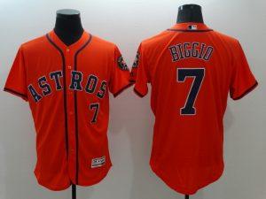 2016 MLB FLEXBASE Houston Astros 7 Craig Biggio Orange Jerseys