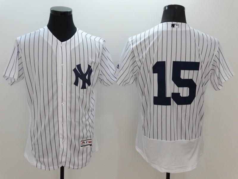 2016 MLB FLEXBASE New York Yankees 15 No Name White Jerseys