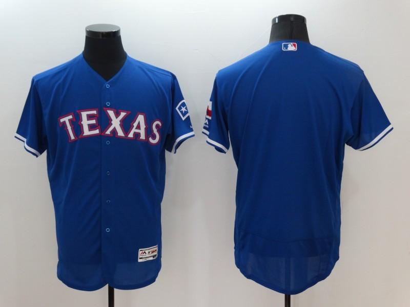 2016 MLB FLEXBASE Texas Rangers Blank Blue Jerseys