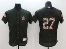 2016 MLB Houston Astros 27 Jose Altuve Green Salute to Service Stitched Baseball Jersey