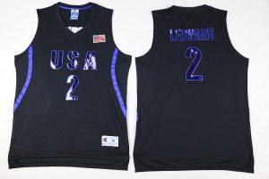 2016 NBA 2 Leonard Dream Team USA Black Jersey