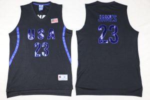 2016 NBA 23 James Dream Team USA Black Jersey