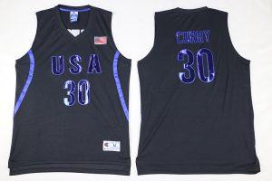 2016 NBA 30 Curry Dream Team USA Black Jersey