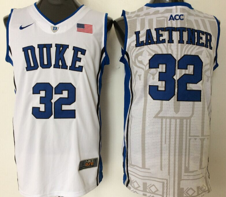 best service 50b18 38ae1 NBA NCAA Duke Blue Devils 32 Laettner White Jerseys | Cheap ...