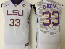 2016 NCAA LSU Tigers 33 O'neal White Jerseys