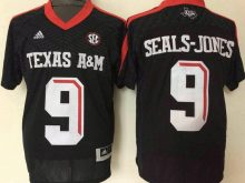 2016 NCAA Texas A&M Aggies 9 Ricky Seals-Jones Black Jerseys