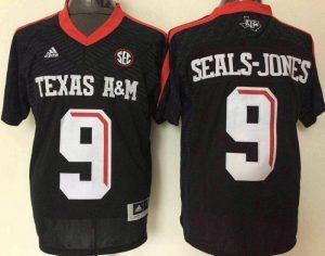 2016 NCAA Texas A&M Aggies 9 Ricky Seals-Jones Black Jerseys