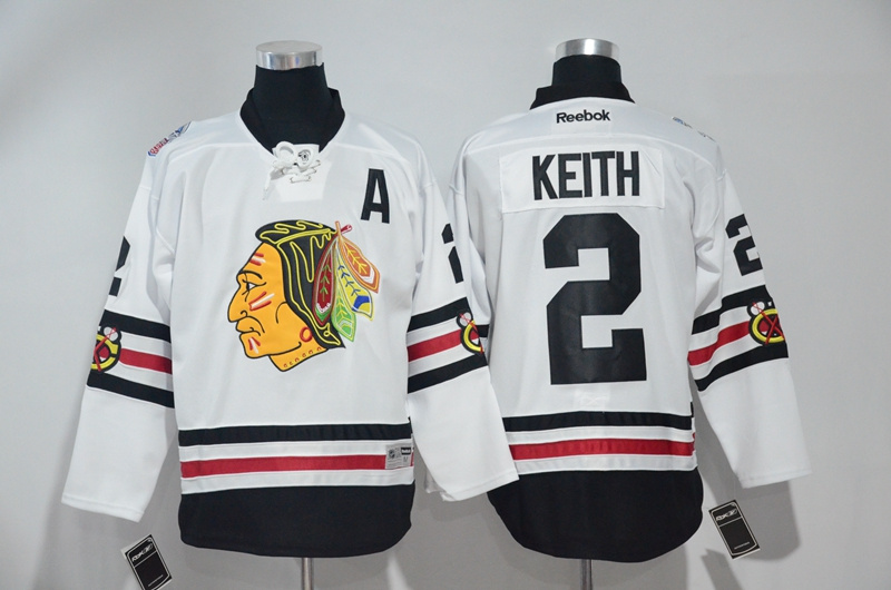 2016 NHL Chicago Blackhawks 2 Keith White Jerseys