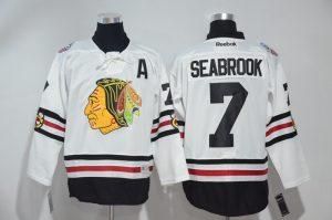 2016 NHL Chicago Blackhawks 7 Seabrook White Jerseys