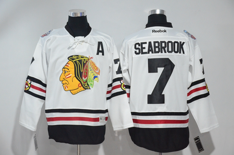 2016 NHL Chicago Blackhawks 7 Seabrook White Jerseys
