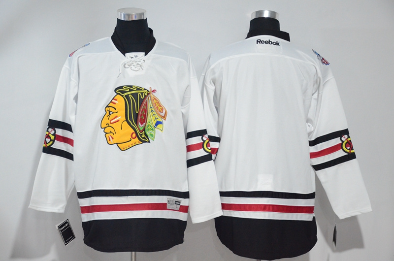 2016 NHL Chicago Blackhawks Blank White Jerseys