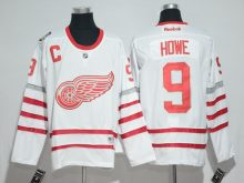 2016 NHL Detroit Red Wings 9 Howe White Jerseys