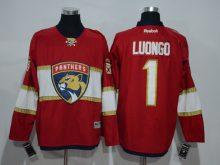 2016 NHL Florida Panthers 1 Roberto Luongo Red Jerseys