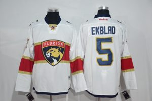 2016 NHL Florida Panthers 5 Aaron Ekblad White Jerseys