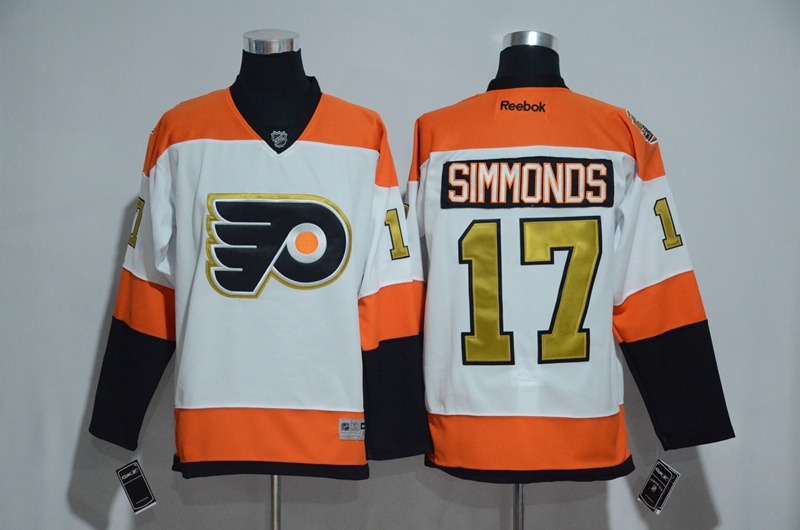 ... 2016 NHL Philadelphia Flyers 17 Wayne Simmonds 50th Anniversary White  Jerseys ... 56db572fb