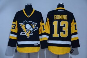 2016 NHL Pittsburgh Penguins 13 Bonino Black Jerseys