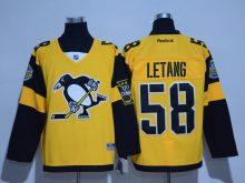 2016 NHL Pittsburgh Penguins 58 Letang Yellow Jerseys