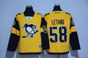 2016 NHL Pittsburgh Penguins 58 Letang Yellow Jerseys