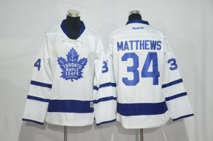 2016 NHL Toronto Maple Leafs 34 Matthews White Jerseys