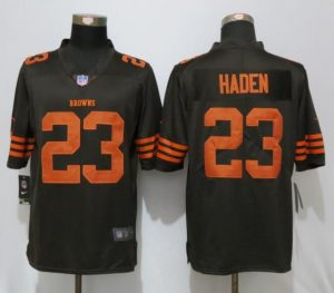 2016 New Nike Cleveland Browns 23 Haden Navy Brown Color Rush Limited Jersey