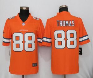 2016 New Nike Denver Broncos 88 Thomas Navy Orange Color Rush Limited Jersey