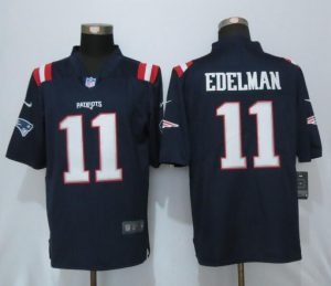 2016 New Nike New England Patriots 11 Edelman Navy Blue Color Rush Limited Jersey