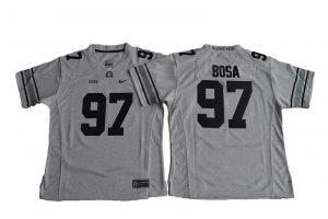 2016 Women Ohio State Buckeyes Joey Bosa 97 College Football Jersey - Gridion Grey