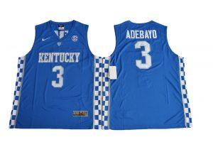 2017 Kentucky Wildcats Edrice Adebayo 3 College Basketball Elite Jersey - Royal Blue