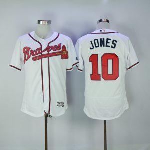 2017 MLB Atlanta Braves 10 Jones White Elite Jerseys