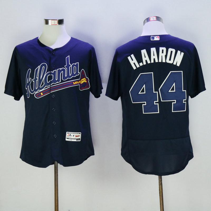 2017 MLB Atlanta Braves 44 H.Aaron Blue Elite Jerseys