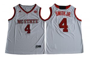 2017 NC State Wolfpack Dennis Smith Jr. 4 College Basketball Jersey - White
