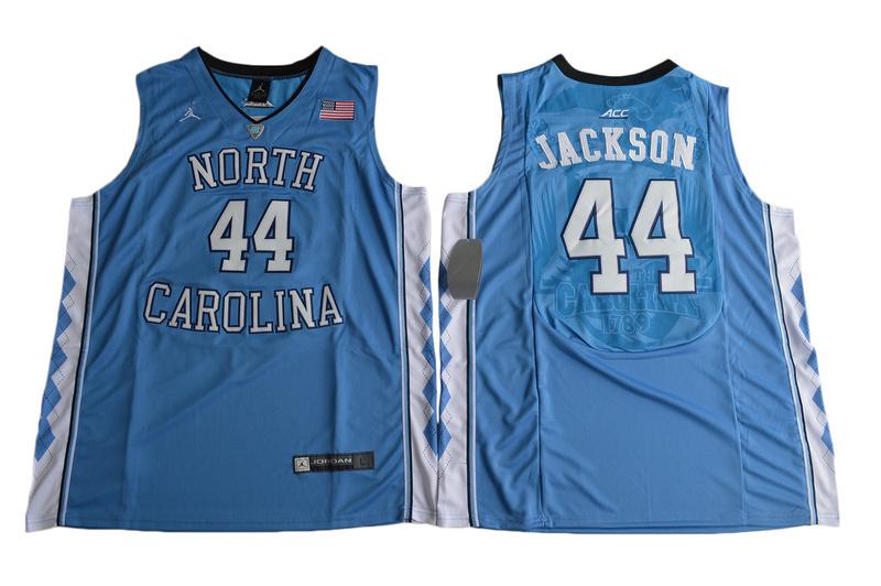 2017 North Carolina Tar Heels Justin Jackson 44 College Basketball Jersey - Blue