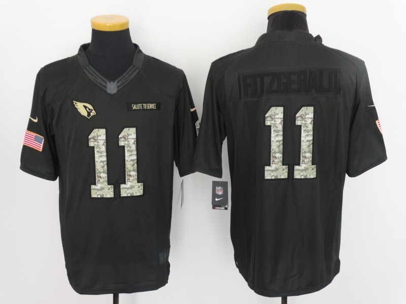 Arizona Cardinals 11 Larry Fitzgerald 2016 Nike Anthracite Salute to Service Limited Jersey