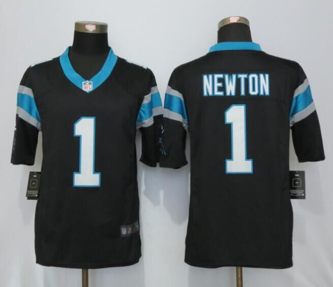 Carolina Panthers 1 Newton Black Nike Limited Jerseys