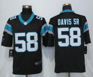 Carolina Panthers 58 Davis sr Black Nike Limited Jerseys