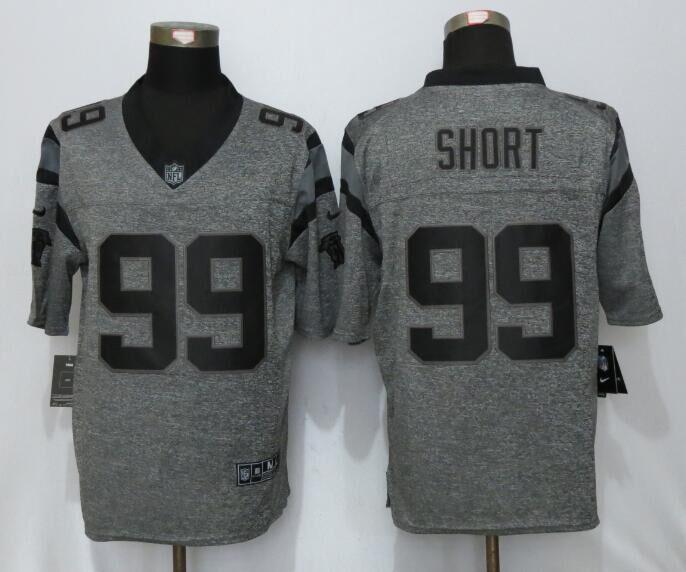 Carolina Panthers 99 Short Gray Men's Stitched Gridiron Gray NEW Nike Limited Jersey