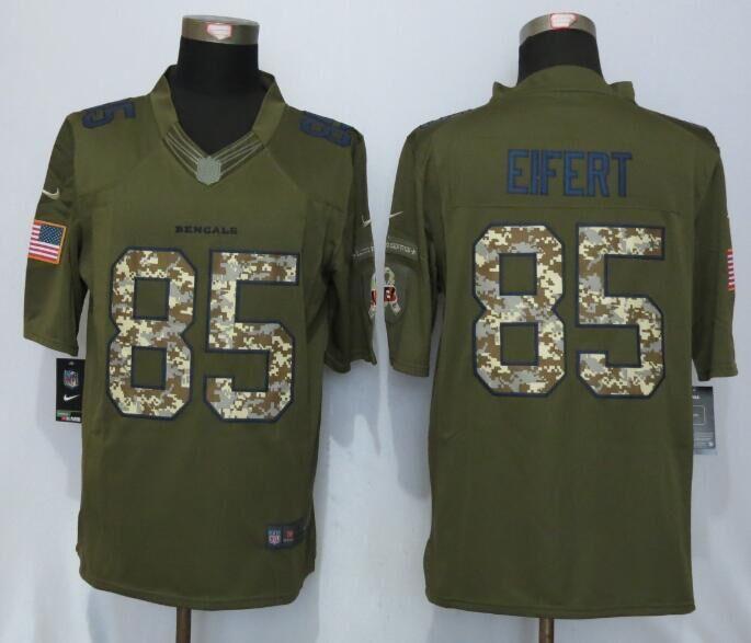 Cincinnati Bengals 85 Eifert Green Salute To Service New Nike Limited Jersey