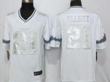 Dallas Cowboys 21 Elliott Platinum White New Nike Limited Jerseys