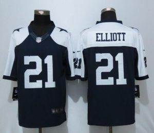 Dallas cowboys 21 Elliott Blue Thanksgiving Nike Limited Jersey