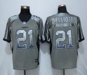 Dallas cowboys 21 Elliott Drift Fashion Grey NEW Nike Elite Jerseys