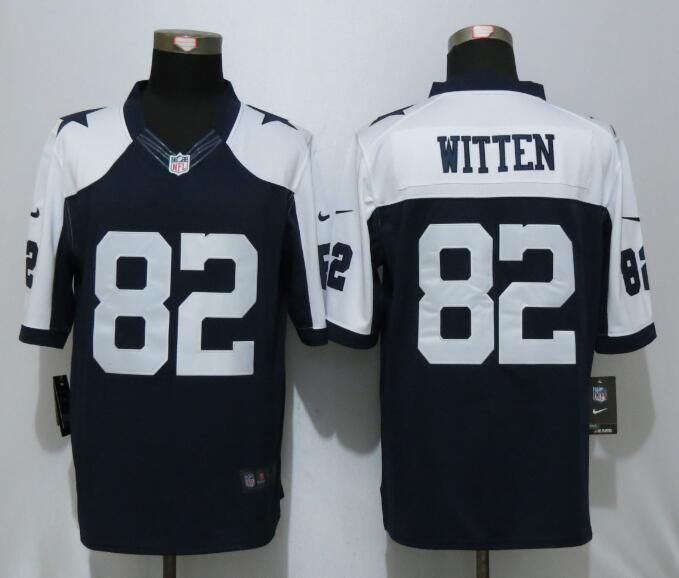 Dallas cowboys 82 Witten Blue Thanksgiving Nike Limited Jersey