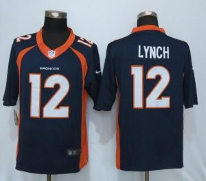Denver Broncos 12 Lynch Blue Nike Limited Jerseys