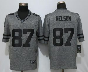 Green Bay Packers 87 Nelson Gray Men's Stitched Gridiron Gray New Nike Limited Jersey