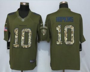 Houston Texans 10 Hopkins Green Salute To Service New Nike Limited Jersey