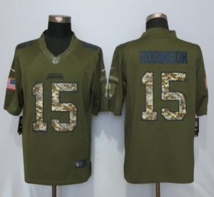 Jacksonville Jaguars 15 Roblnson Green Salute To Service Nike Limited Jersey