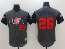 Men USA Baseball 26 Crawford Gray 2017 World Baseball Classic Authentic Jersey
