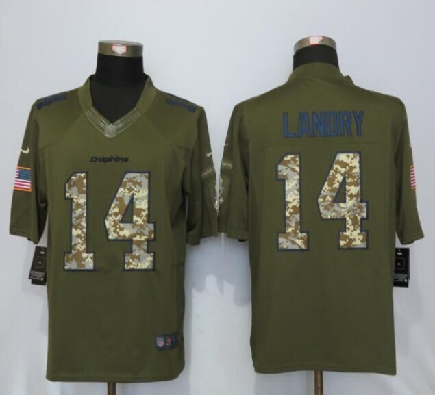 Miami Dolphins 14 Landry Green Salute To Service New Nike Limited Jersey